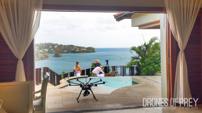 Sales piece for Sandals Resort in St. Lucia - a tropical drone shoot