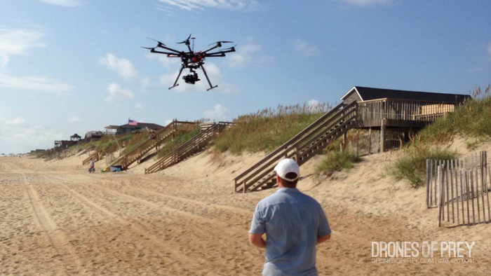 drones can go where cameras and people can't - use drone aerial photography