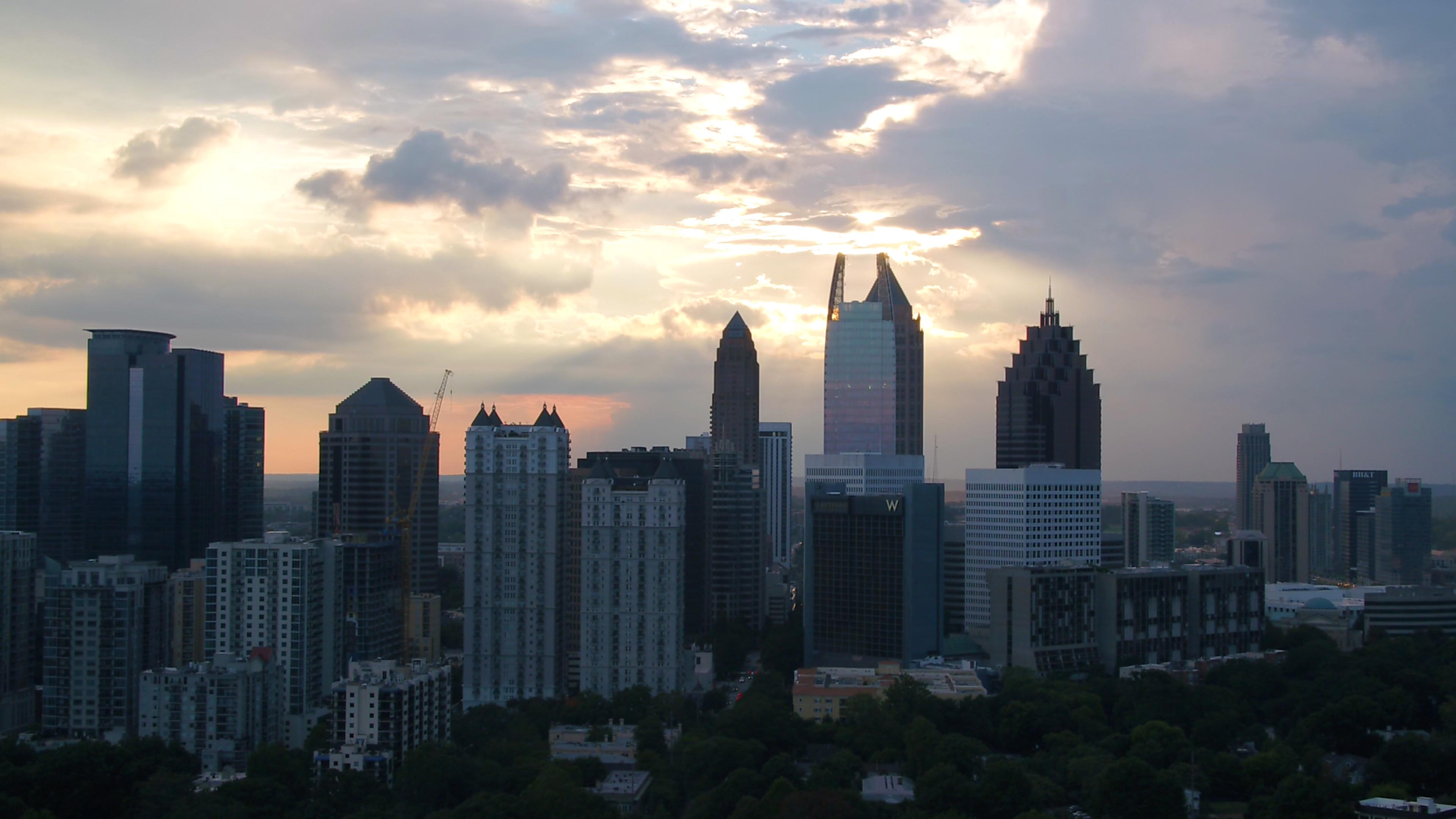 Atlanta Sunset Drone Photo