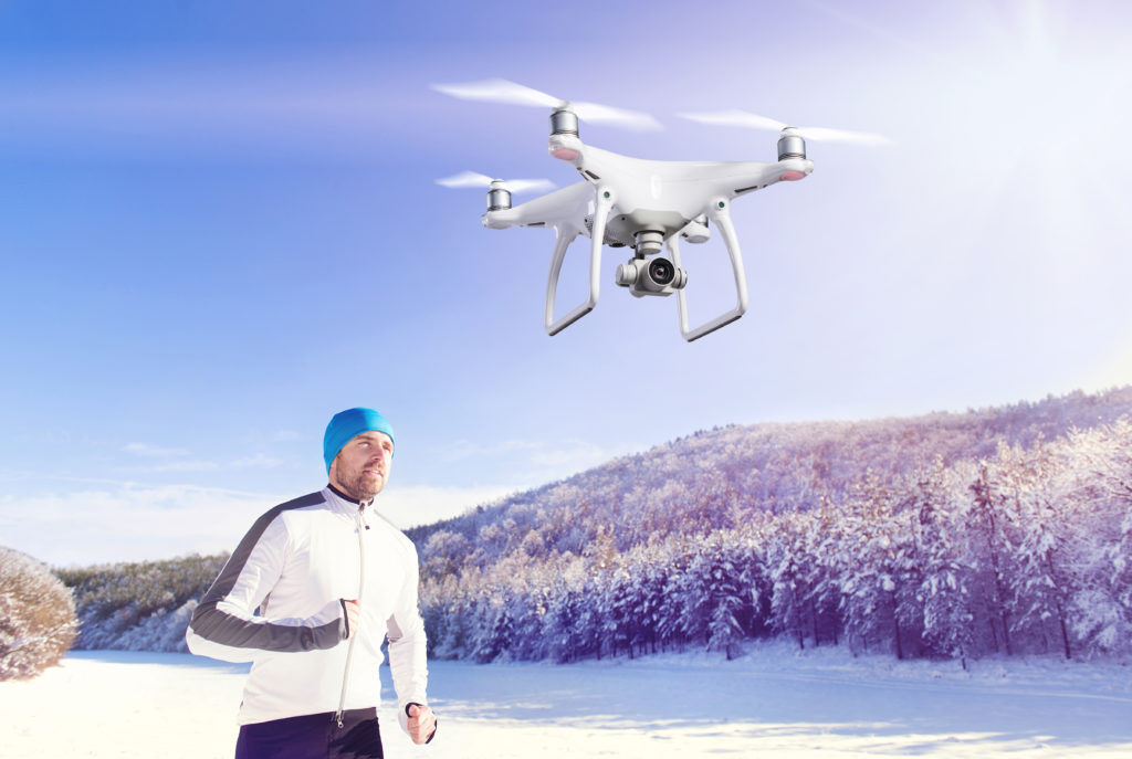 Showing cold weather drone flying